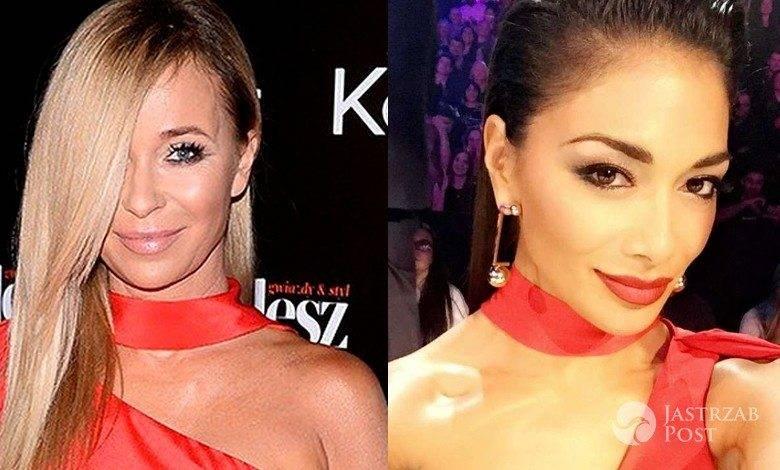 Nicole Scherzinger i Joanna Przetakiewicz w sukni La Mania