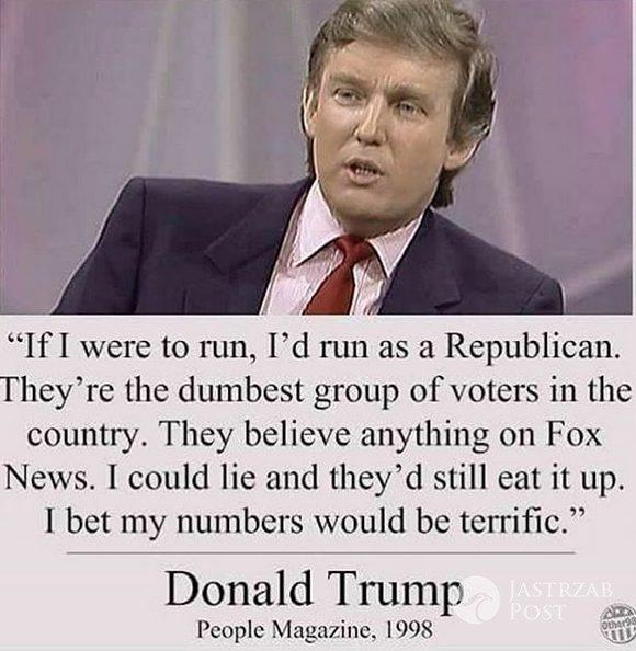 Donald Trump o Partii Republikańskiej