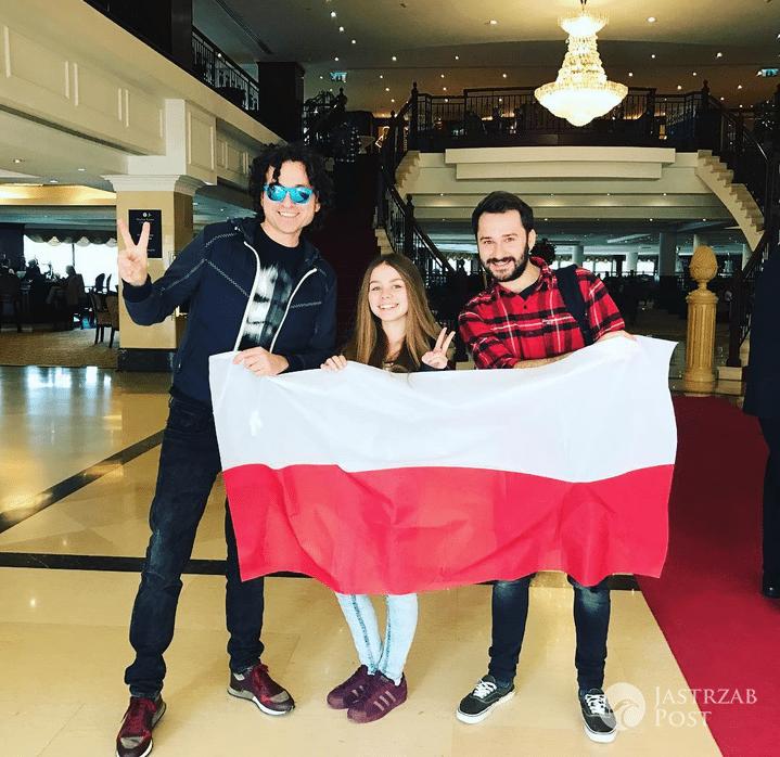 Piotr Rubik i Olivia Wieczorek przed ceremonią otwarcia Eurowizji Junior 2016