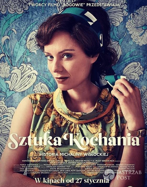 """Plakat promujący """"Sztukę kochania"""" z Magdaleną Boczarską"""
