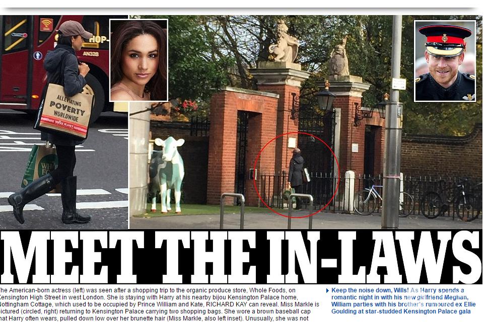 Książę Harry spotyka się z Meghan Markle w Pałacu Kensington fot. screen z dailymail.co.uk