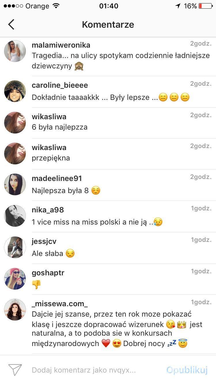 Ewa Mielnicka o Paulinie Maziarz Miss Polski 2016