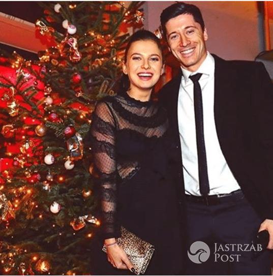 Anna Lewandowska i Robert Lewandowski - świąteczna impreza Bayernu Monachium