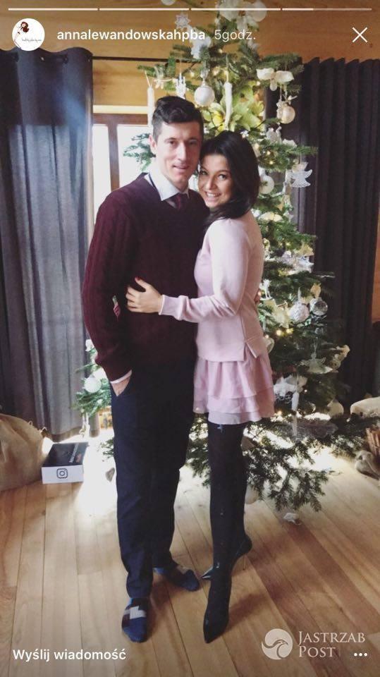 Anna i Robert Lewandowscy - świąteczne stylizacje