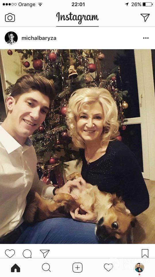 Michał Baryza z mamą - święta 2016, Wigilia zdjęcia