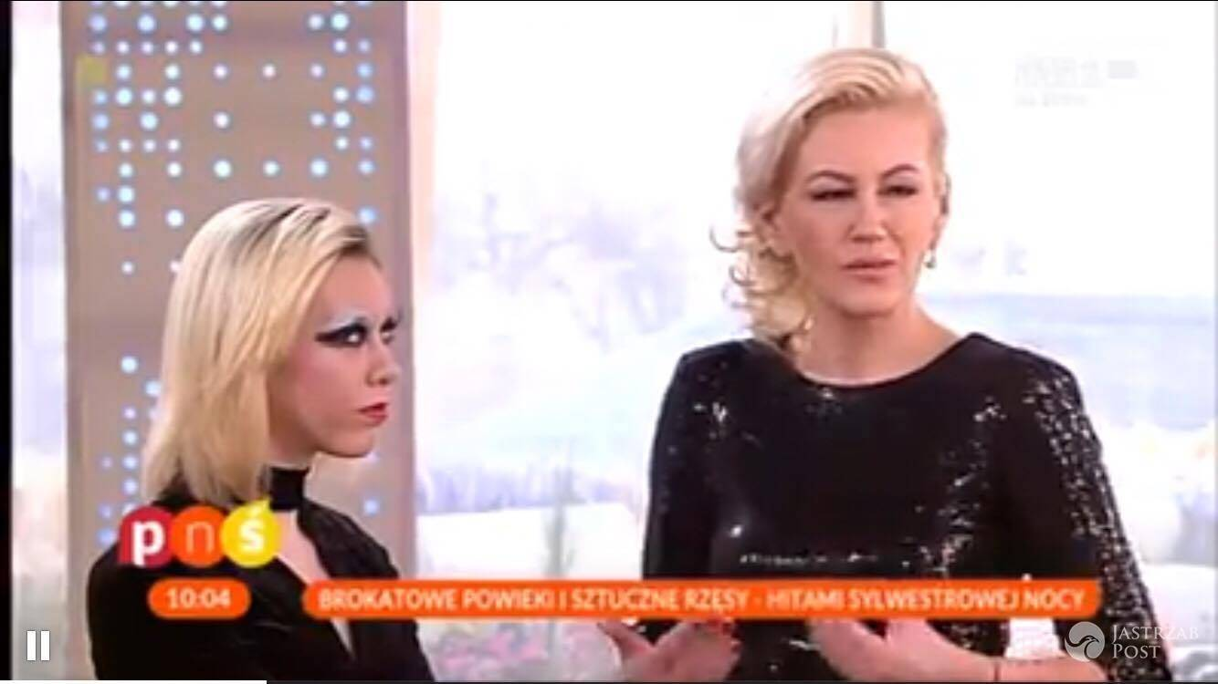 Agnieszka Karpińska z salonu Sens - makijaż na Sylwestra