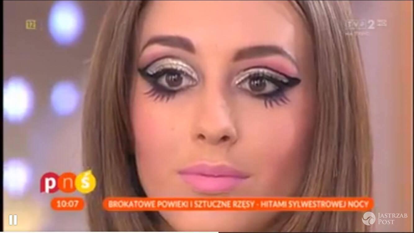 sylwestrowy make-up w Pytaniu na śniadanie
