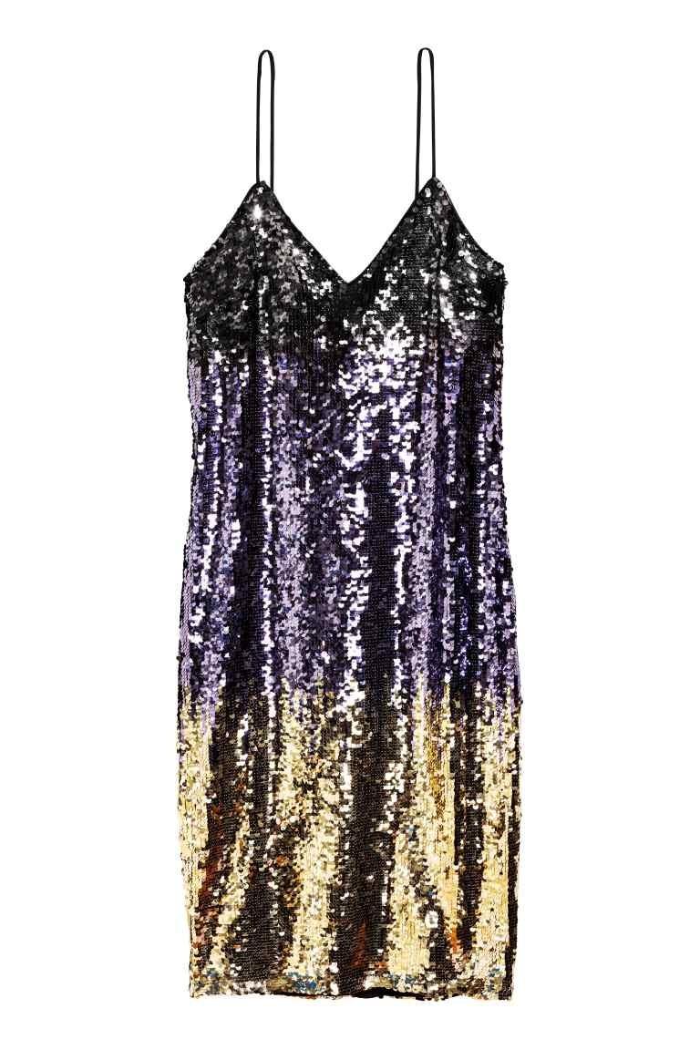 cekinowa sukienka H&M, cena: 229zł