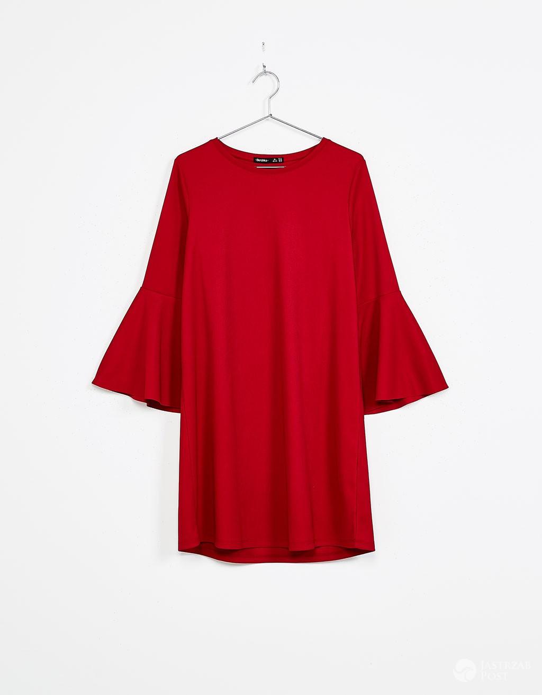 czerwona sukienka bershka, cena: 69zł