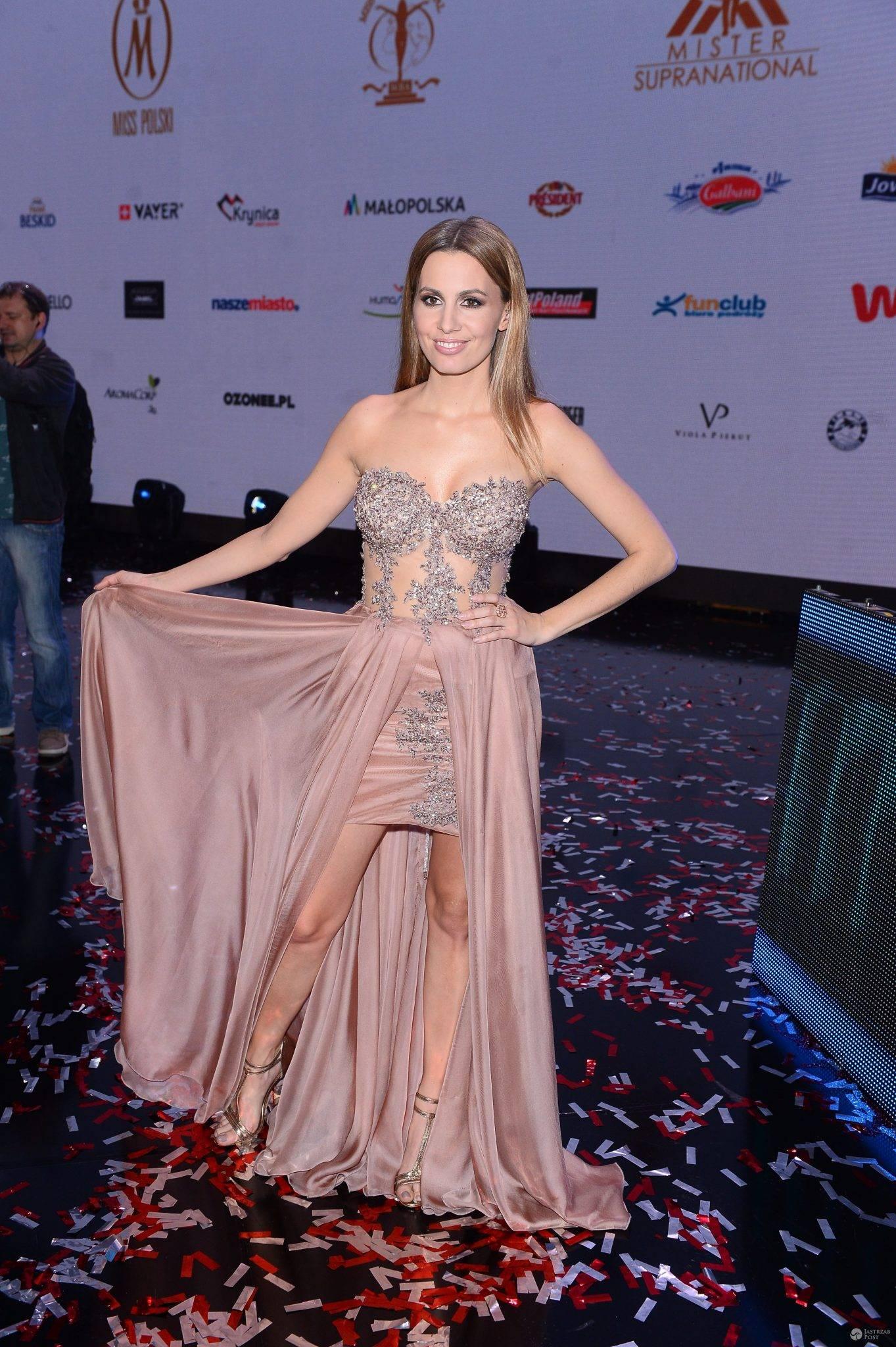 Agnieszka Popielewicz w sukni na finale Miss Polski 2016
