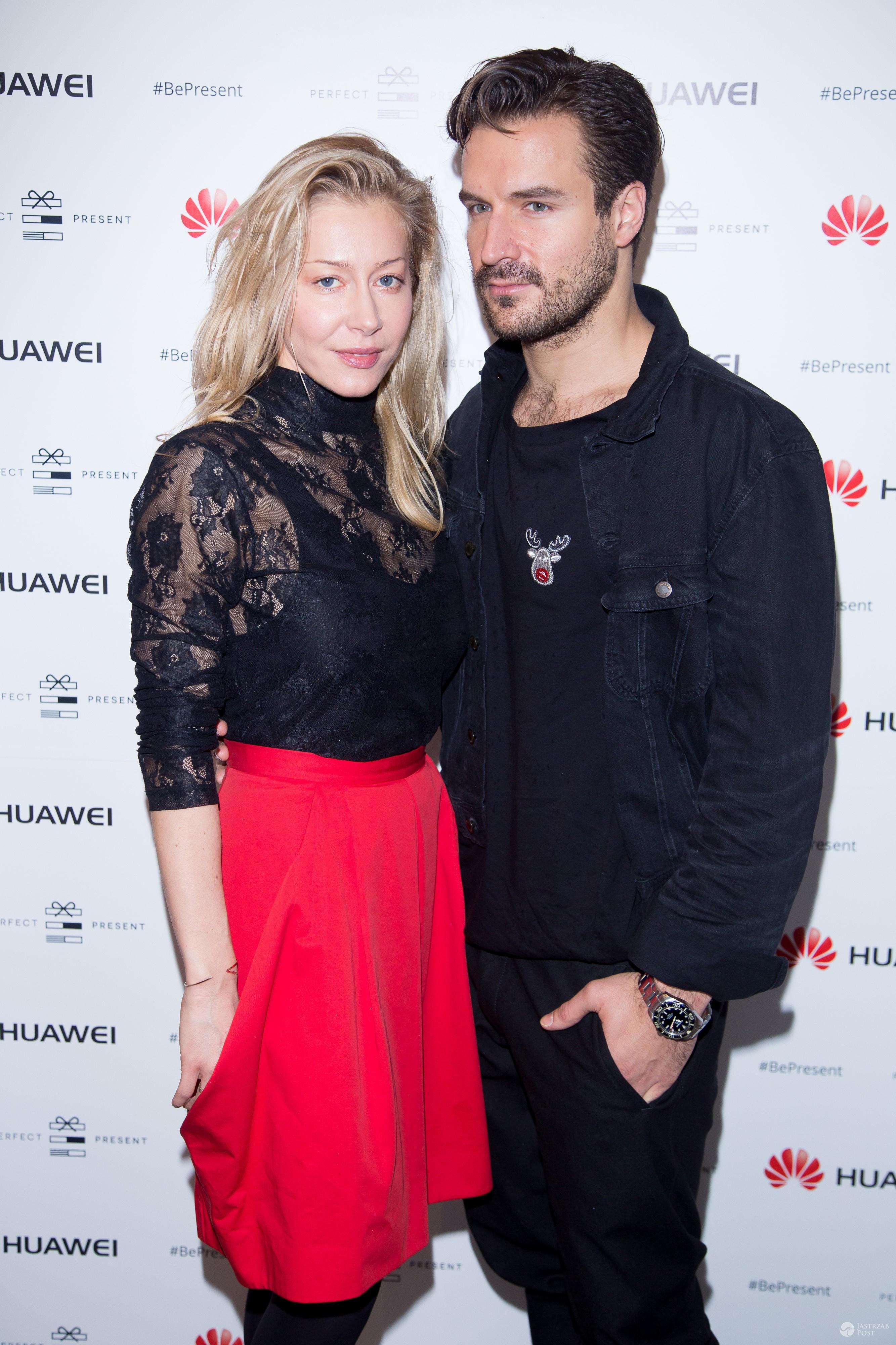 Piotr Stramowski i Katarzyna Warnke na otwarciu świątecznego Pop up store