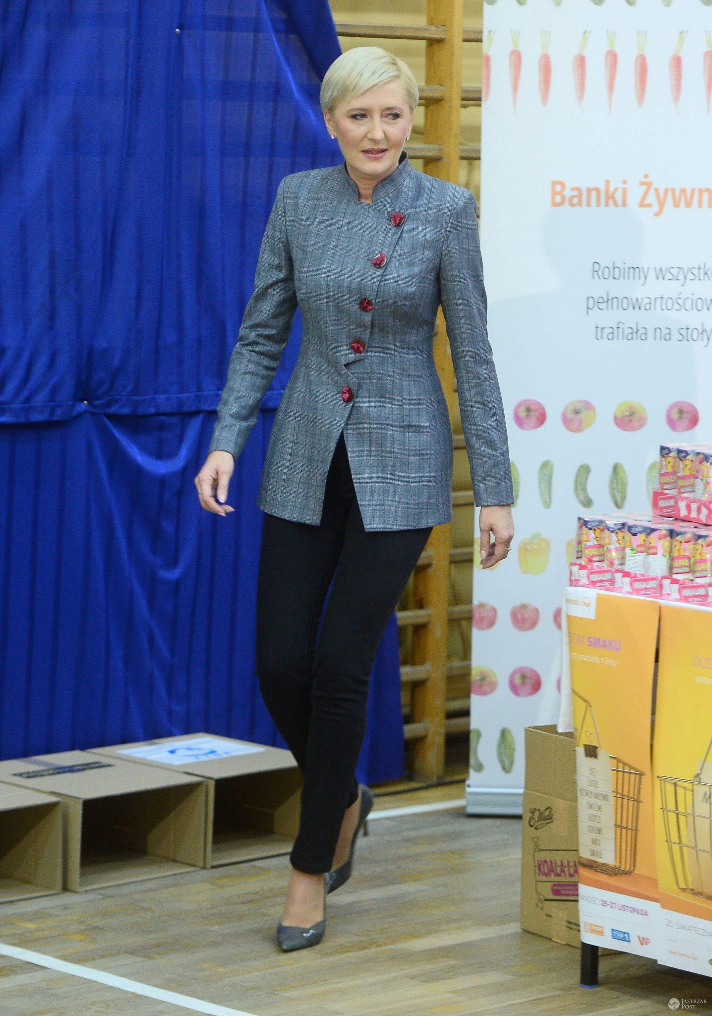 Agata Duda - świąteczna zbiórka żywności