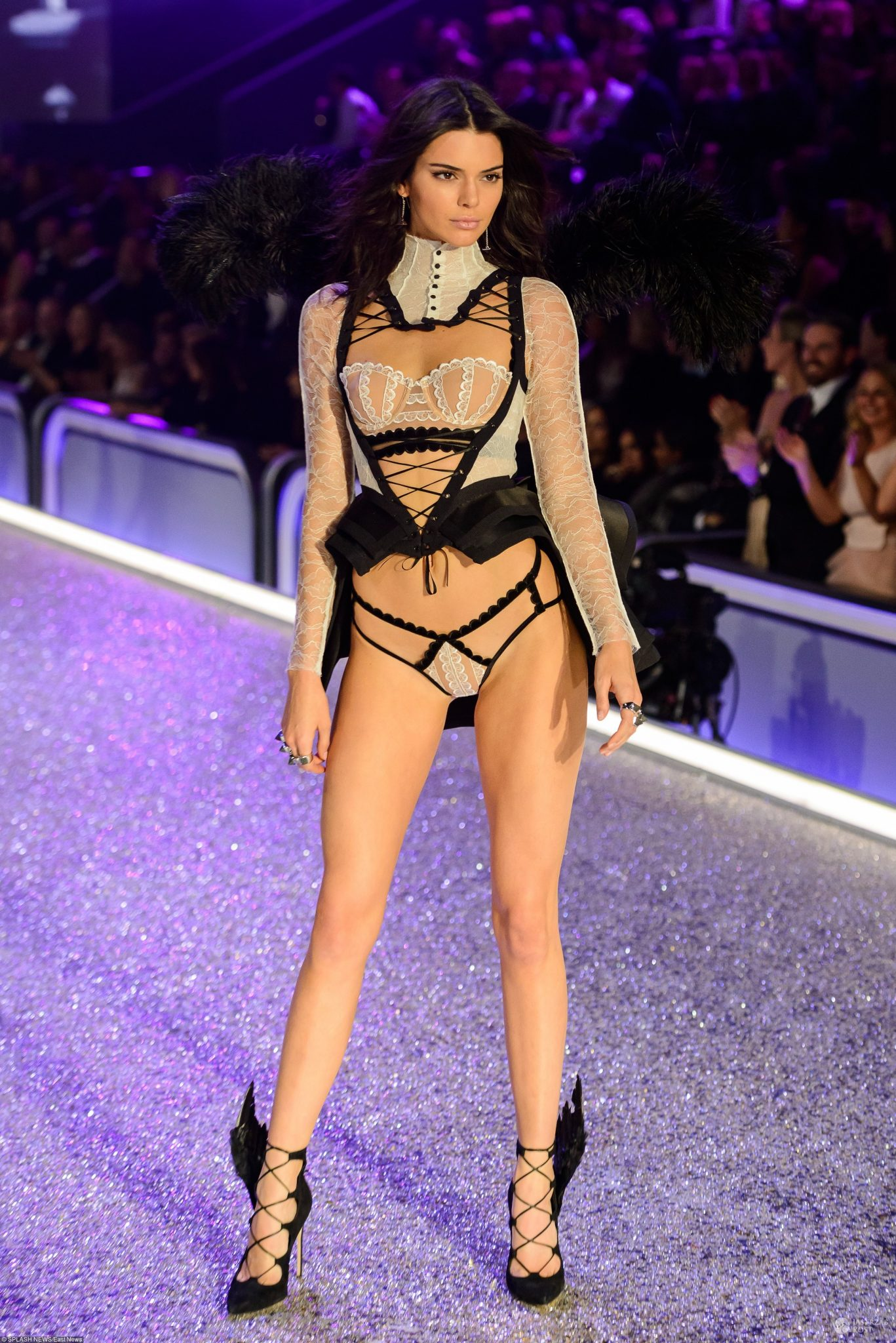 Supermodels on the runway for 2016 Victoria's Secret Fashion Show at the Grand Palais in Paris France  Pictured: Kendall Jenner