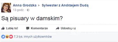 Sylwester z Andrzejem Dudą - screen Facebook