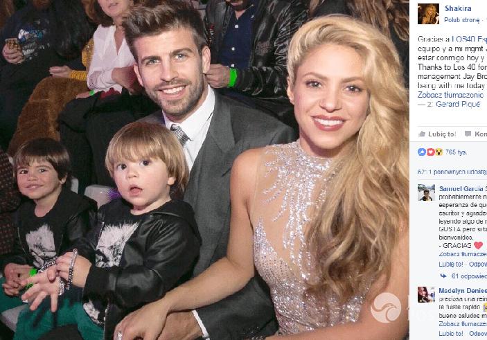 Shakira z rodziną