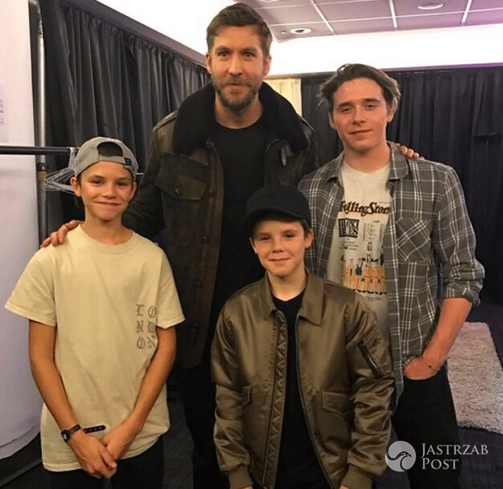 Cruz Beckham i Calvin Harris na Instagramie