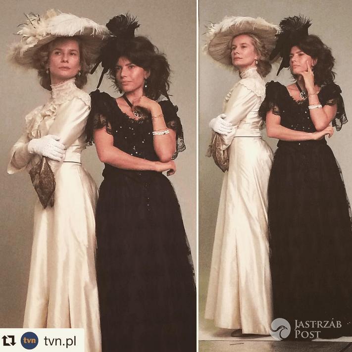 Magdalena Cielecka i Weronika Rosati na planie sesji do serialu Belle Époque - Instagram