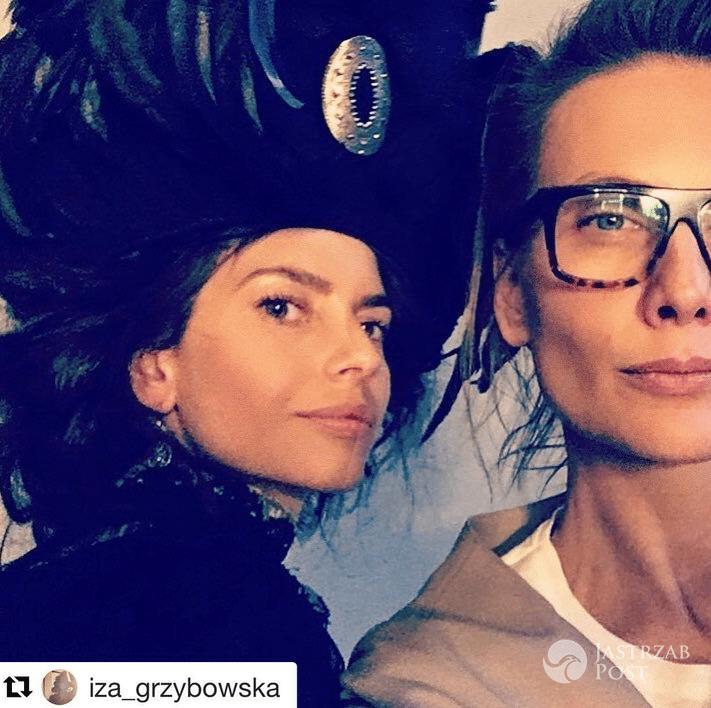 Weronika Rosati na planie sesji do serialu Belle Époque - Instagram