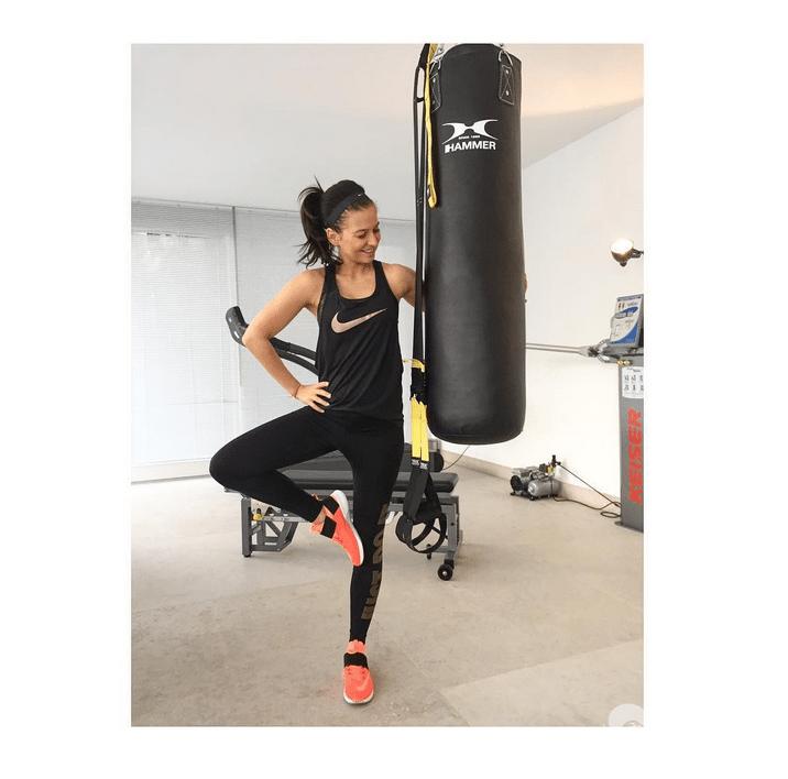 Anna Lewandowska nie rezygnuje z treningów w ciąży - Instagram
