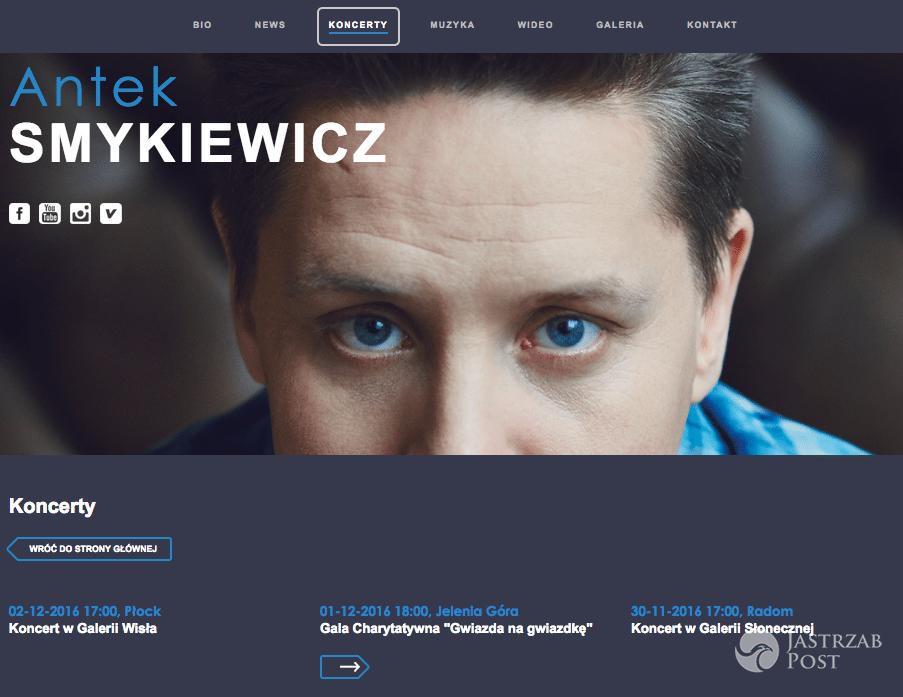 Antek Smykiewicz - Sylwester 2016 - odwołany występ w TVP