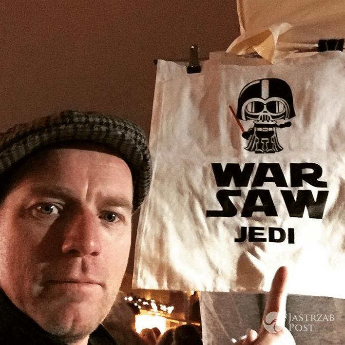 Ewan McGregor w Warszawie - Instagram