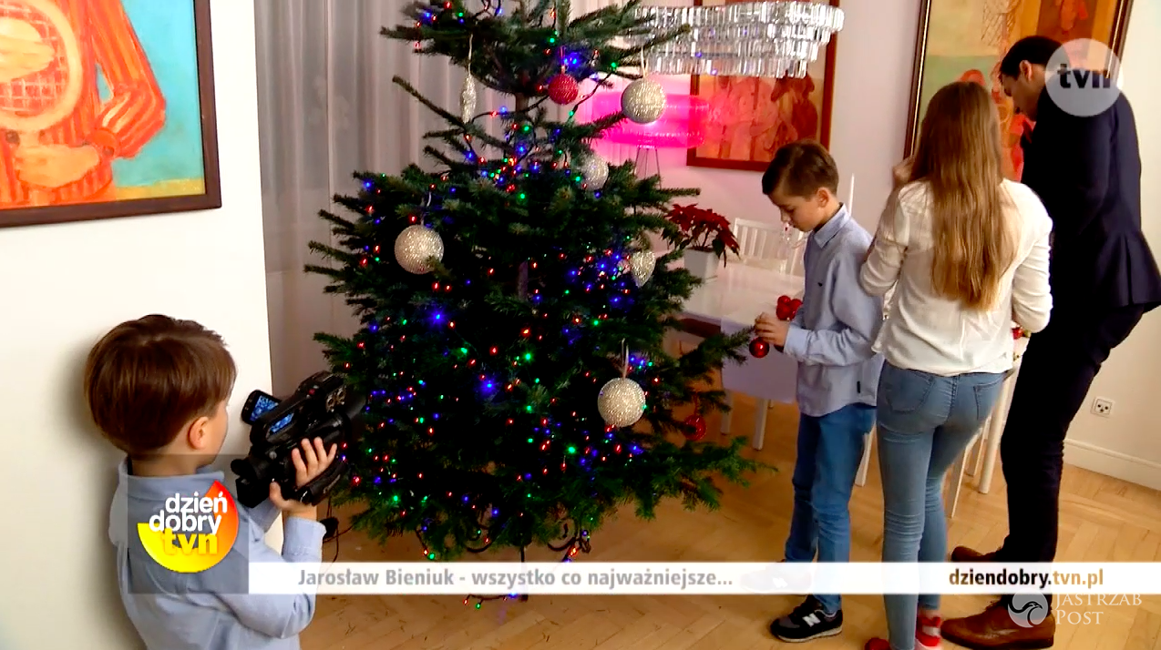 Świąteczny wywiad w domu Jarosława Bieniuka w Dzień Dobry TVN