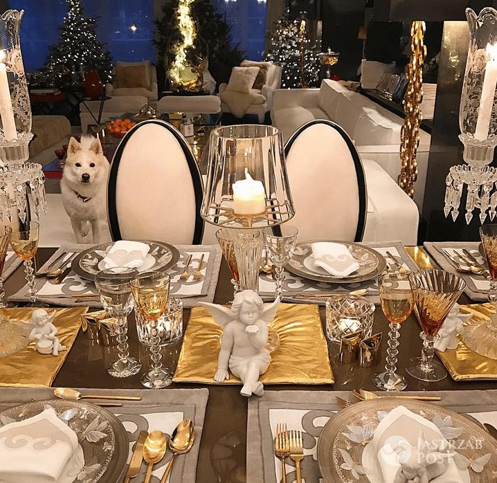 Dekoracja stołu na wigilijną kolację - Joanna Przetakiewicz