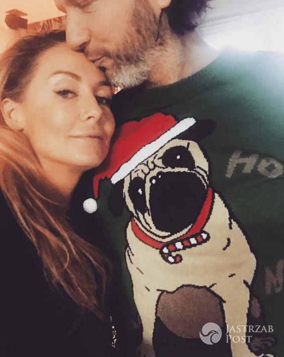 Małgorzata Rozenek i Radosław Majdan w świątecznym swetrze - Instagram