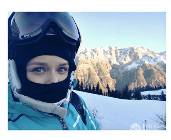 Aneta Zając na nartach we Włoszech - Instagram