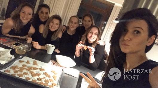 Anna Lewandowska na imprezie z koleżankami
