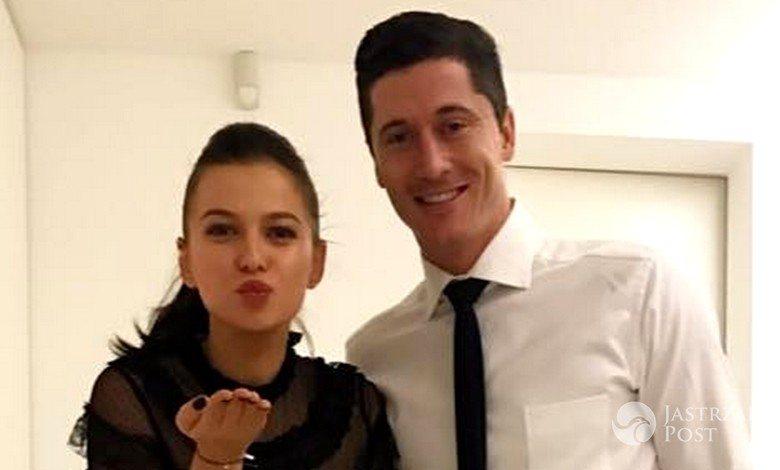 Anna Lewandowska i Rober Lewandowski na świątecznej imprezie Bayern Monachium