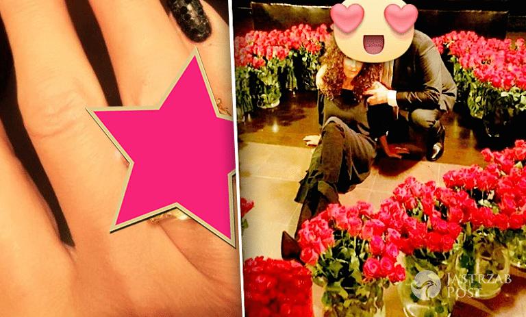 Ewa Minge pierścionek zaręczynowy