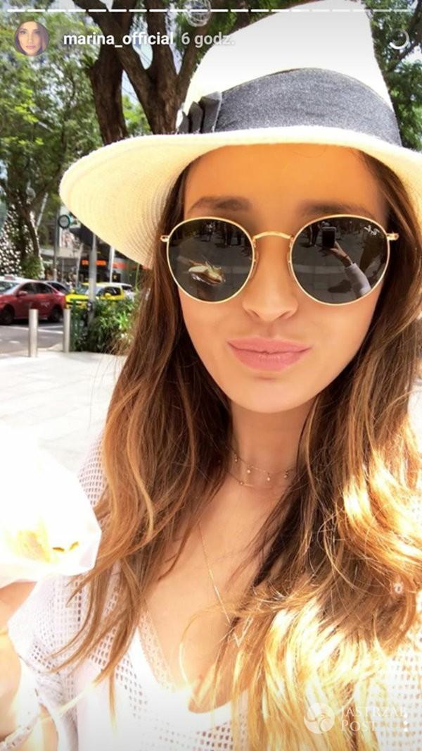 Marina Łuczenko na wakacjach w Singapurze - Instagram