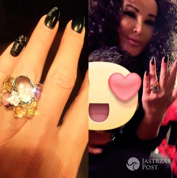 Ewa Minge - pierścionek zaręczynowy (fot. Instagram)