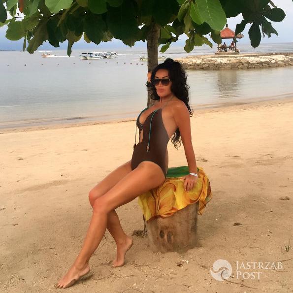 Ewa Minge w bikini na wakacjach