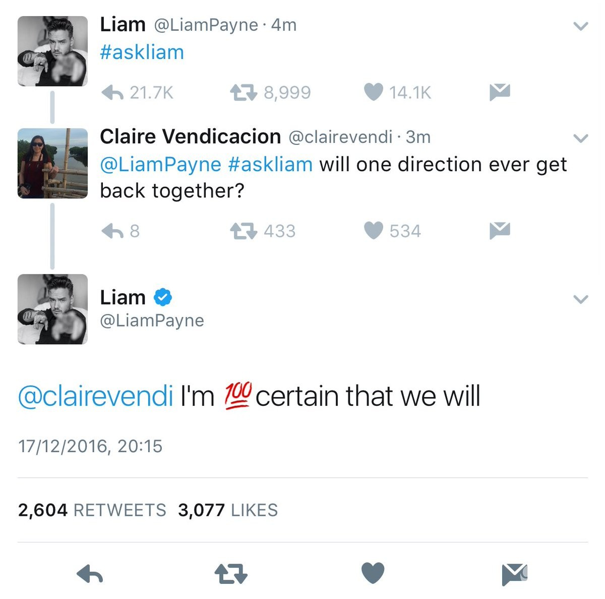 Liam Payne potwierdza powrót One Direction