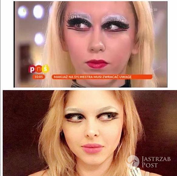 Joanna Opozda śmieje się z sylwestrowego makijażu TVP