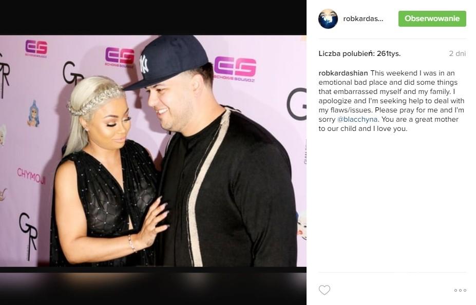 Rob Kardashian i Blac Chyna - Instagram