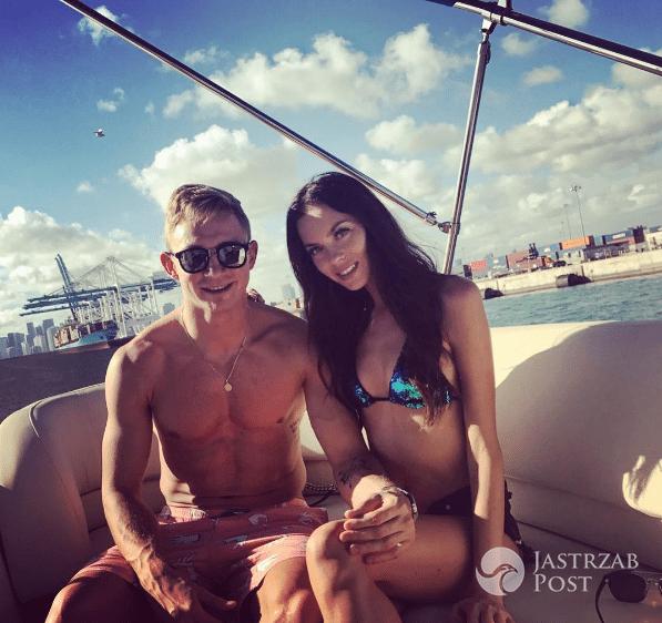 Kuba Rzeźniczak z żoną Edytą w Miami