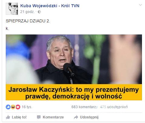 Kuba Wojewódzki o Jarosławie Kaczyńskim