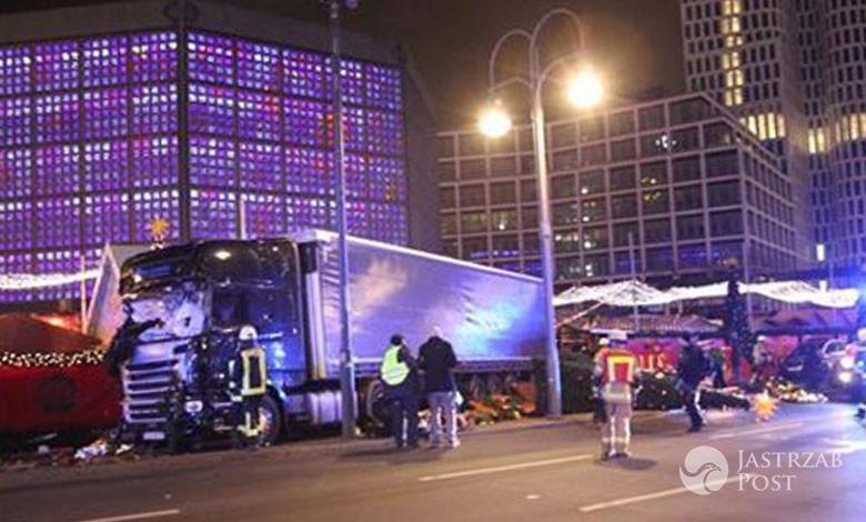 Ciężarówka wjechała w jarmark świąteczny w Berlinie