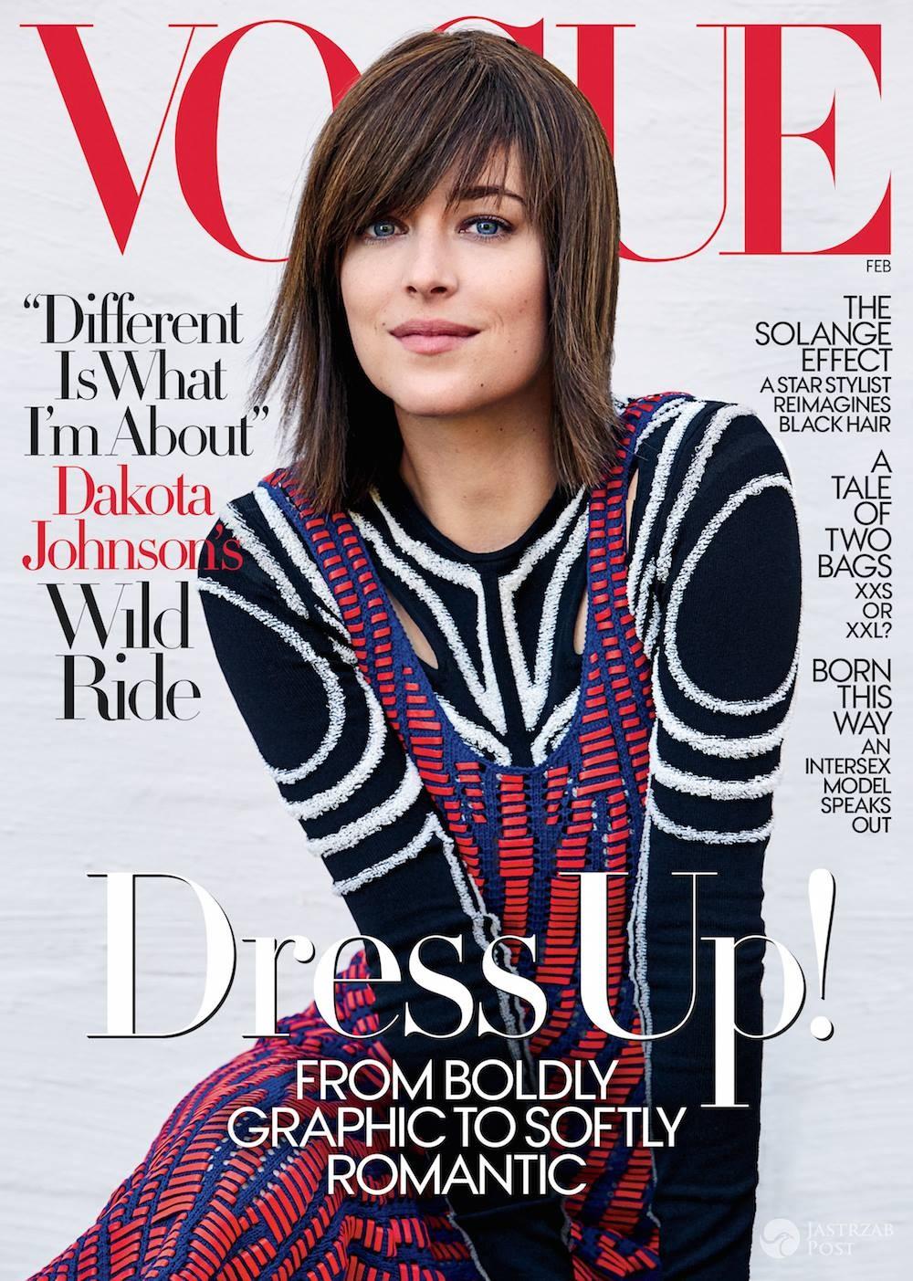 Dakota Johnson na okładce lutowego Vogue