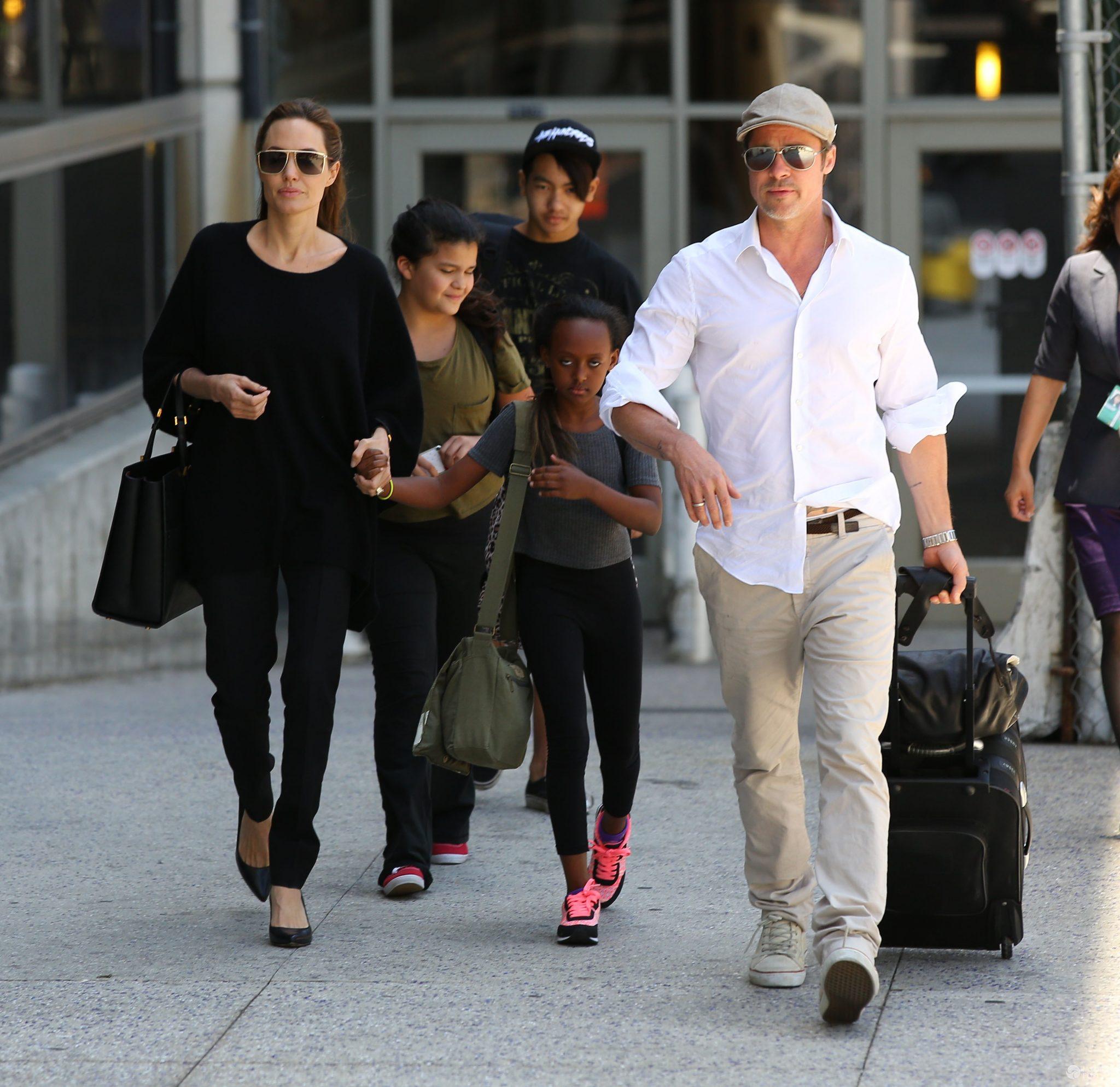 Angelina Jolie i Brad Pitt z córką Zaharą