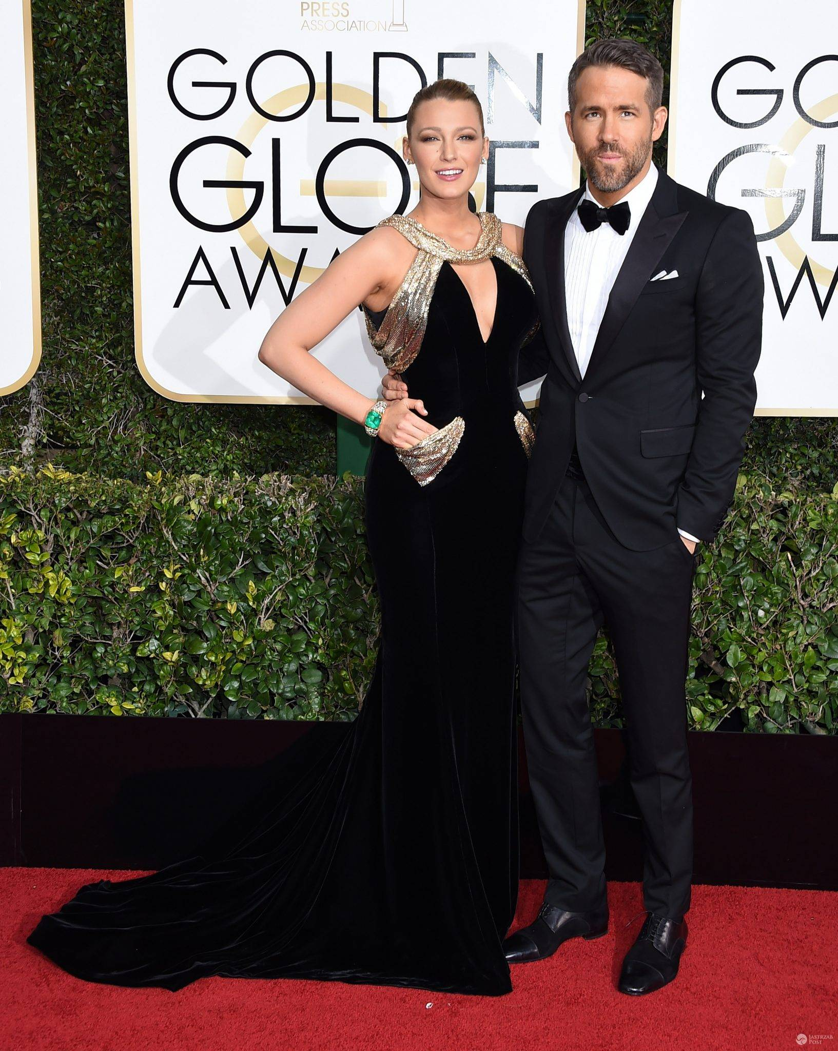January 8, 2017 Beverly Hills, CA Blake Lively and Ryan Reynolds 74th Annual Golden Globe Awards held at the Beverly Hilton Hotel ©Tammie Arroyo-GG17/AFF-USA.com