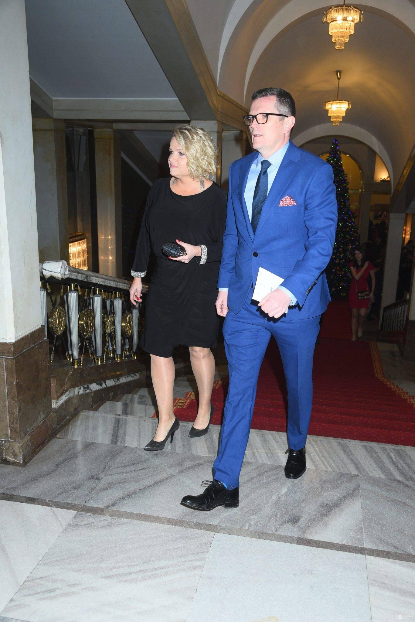 Katarzyna Bosacka z mężem - Paszporty Polityki 2016