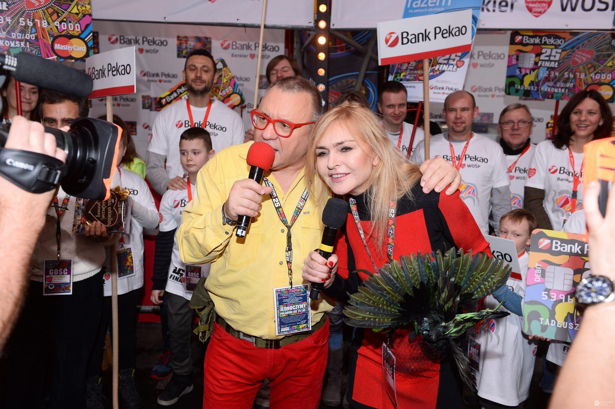 WOŚP 2017 Jerzy Owsiak i Monika Olejnik