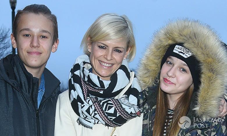 Marta Wiśniewska z dziećmi Xavierem i Fabienne