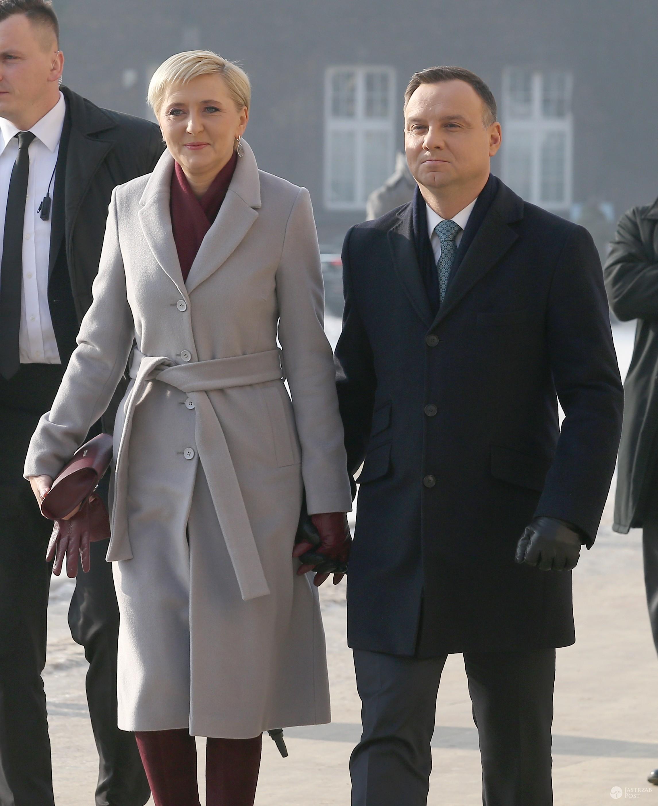 Agata Duda i Andrzej Duda na uroczystościach w Krakowie