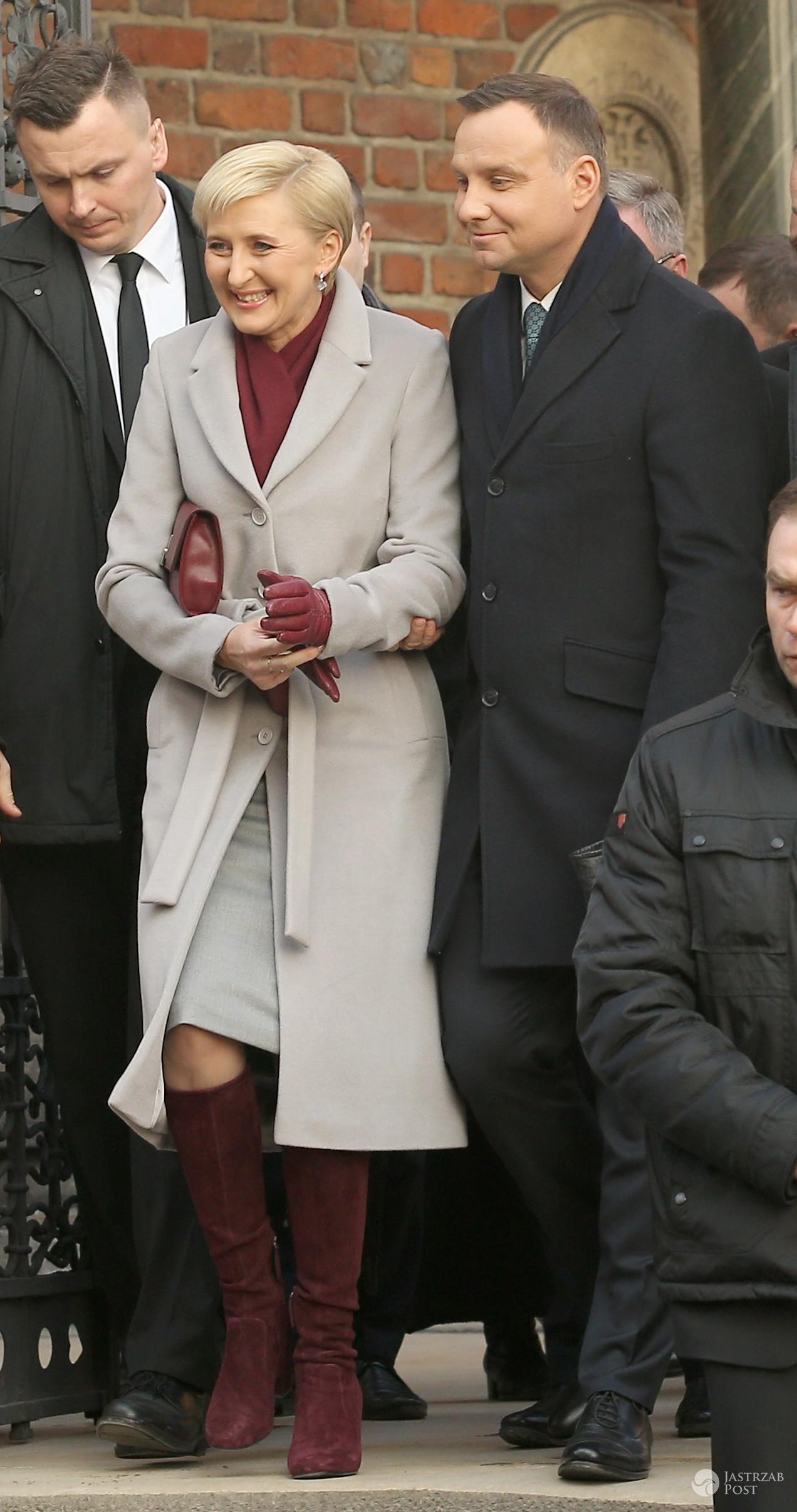 Agata Duda i Andrzej Duda na uroczystościach w Krakowie. Zdjęcia
