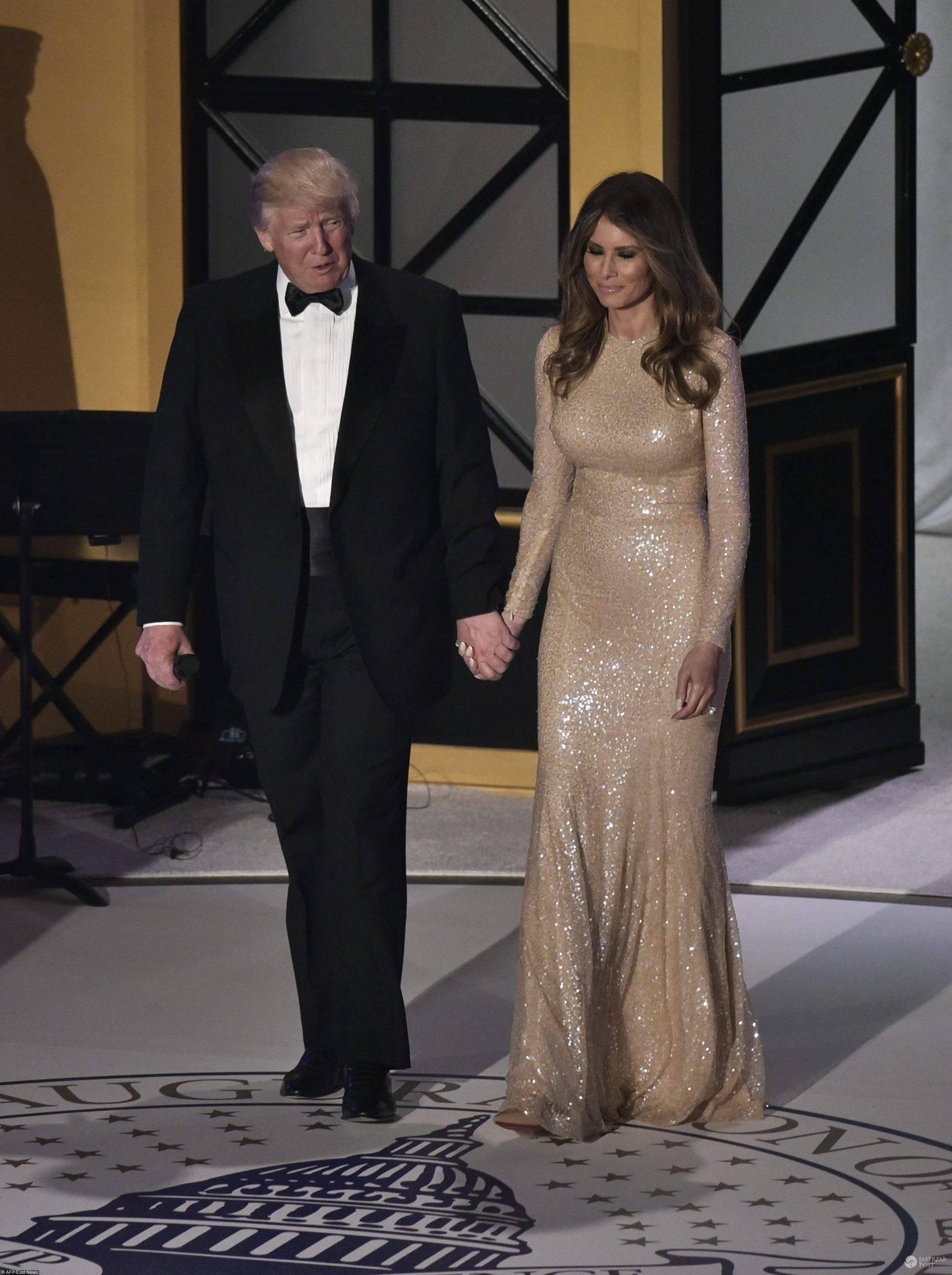 Donald i Melania Trump przed inauguracją